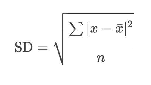 формула для полос боллинджера